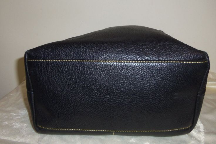 Large Dooney and Bourke Dillen black pebbled leather carry-all hobo bag $59.99