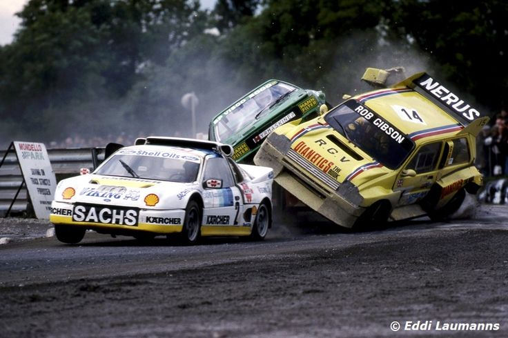 An Audi Quattro trying to climb the competition!!!! LOL