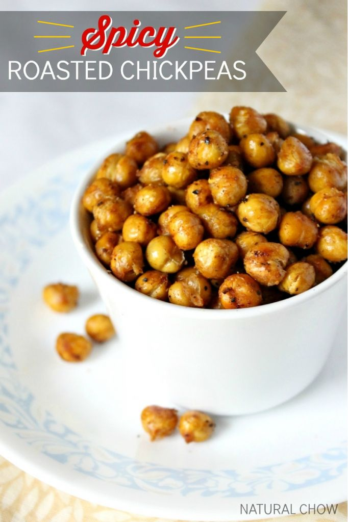 Spicy Roasted Chickpeas | Natural Chow | http://naturalchow.com ~ shared at DIY Sunday Showcase Link Party on VMG206 (Saturdays at 5pm CST). #diyshowcase