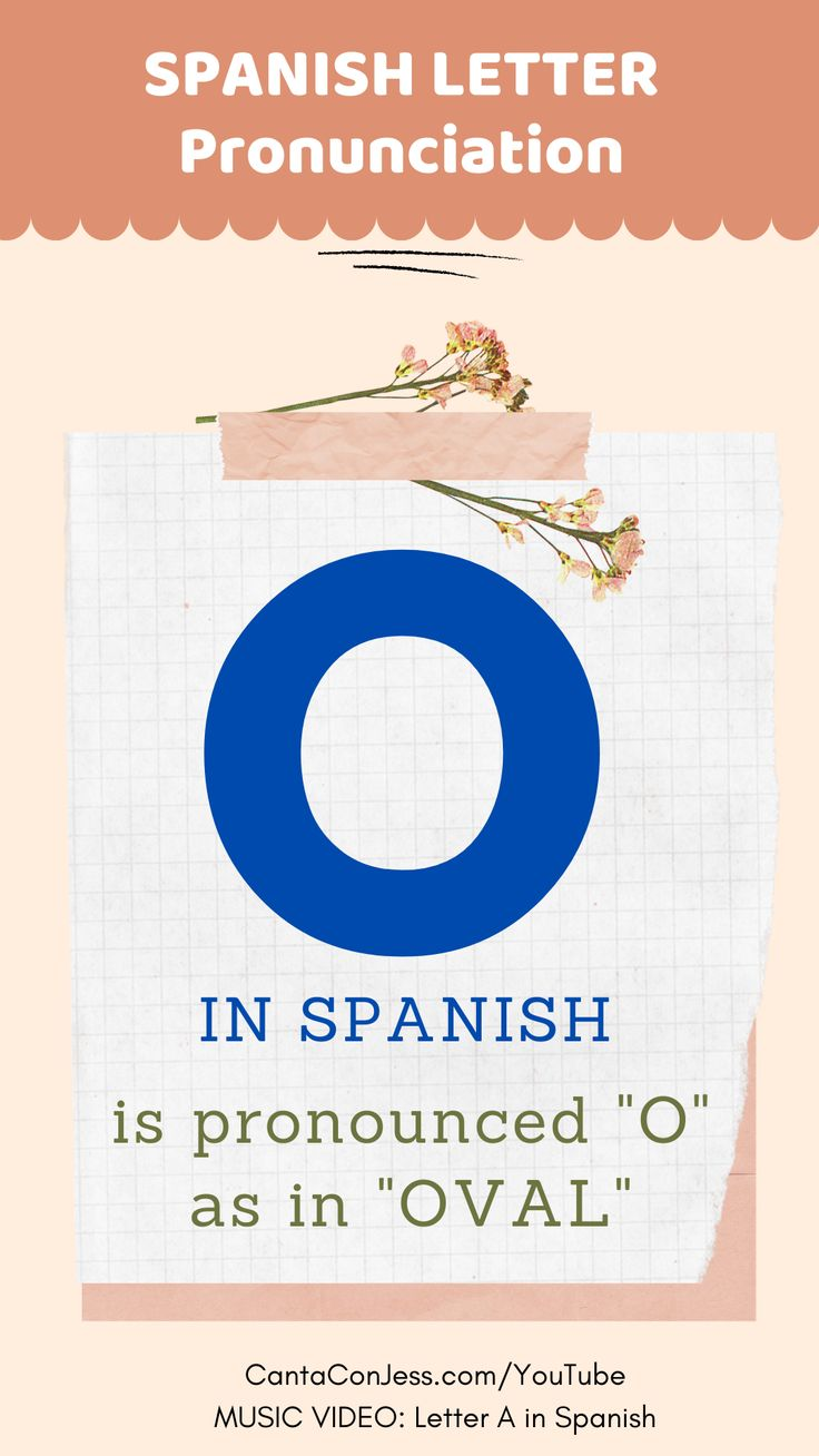 Letter O in Spanish How to Pronounce it in 2020
