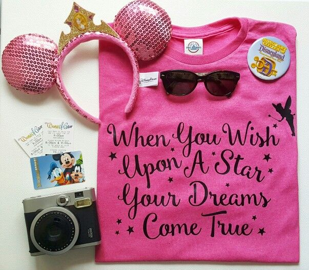 When You Wish Upon a Star - Disney Quote Tee - Great for Disneyland or Walt Disney World Vacation.  Disney T-Shirt - Disney Outfit