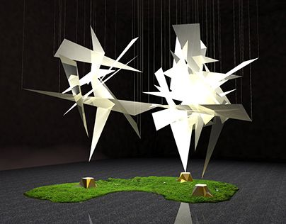 "Check out new work on my @Behance portfolio: ""installation ""ghost of trees"""" http://on.be.net/1Oaq3MK"