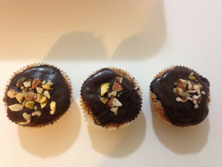 Orechovo-čokoládovo-hruškové kapkejky