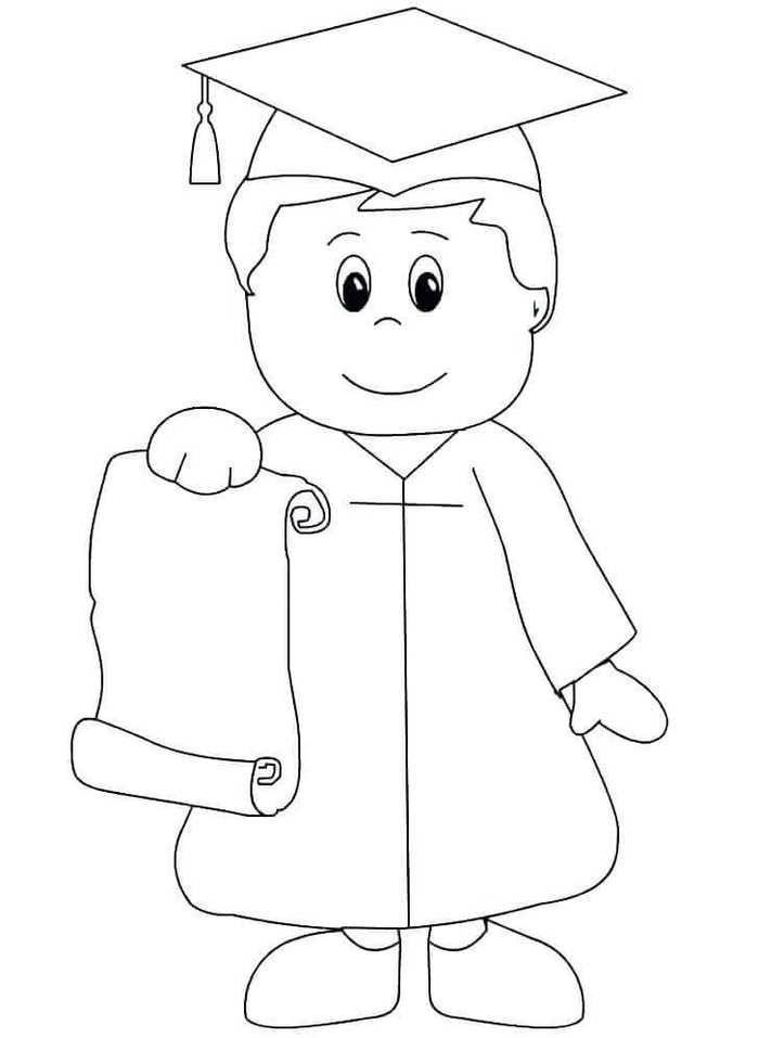 Free Kindergarten Graduation Coloring Pages Kindergarten