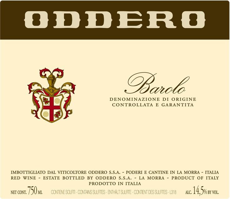Oddero Barolo 2012