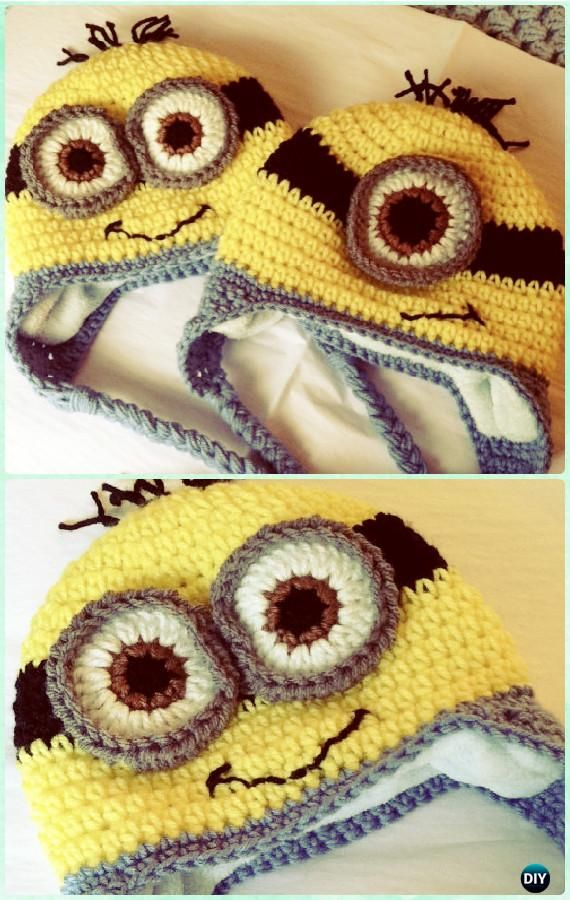Free Knitting Pattern For Minion Hat With Ear Flaps : 1000+ ideas about Crochet Minion Hats on Pinterest Crochet Minions, Minion ...