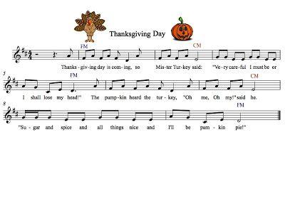 Fun Thanksgiving Day song. Teaching Elementary Music: Tanya's Blog