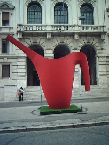 The giant watering can disruption