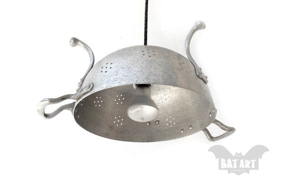 Colander Ceiling Light  Massif Aluminium Vintage Big by BatLab