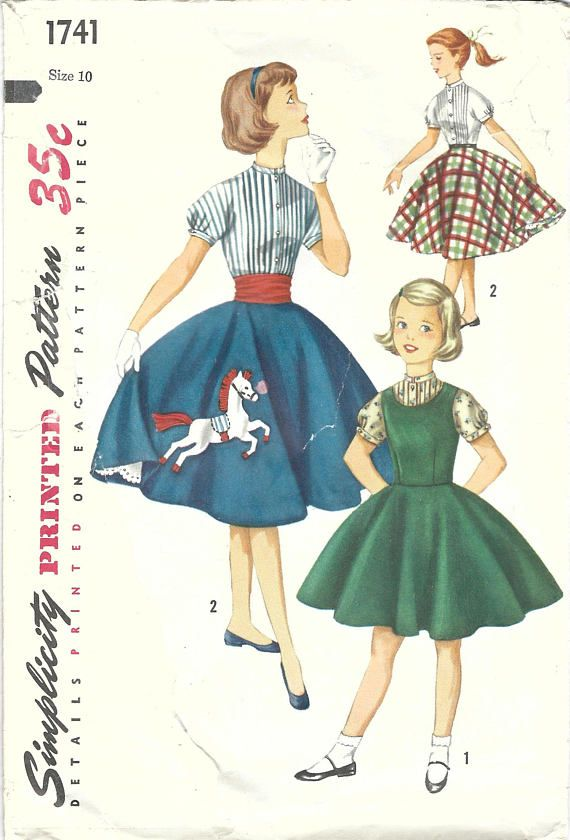 26 Best I ♡ Vintage Sewing Patterns Circle Skirts