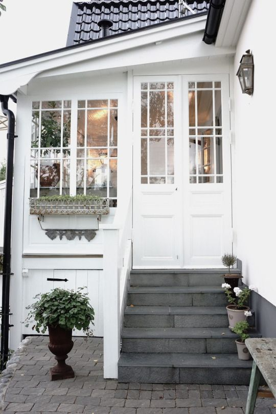 #white #farmhouse entry | gray + white