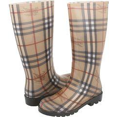 Burberry rain boots.