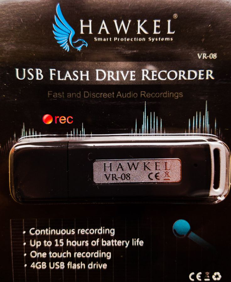 Stick USB cu reportofon ascuns Hawkel VR-08