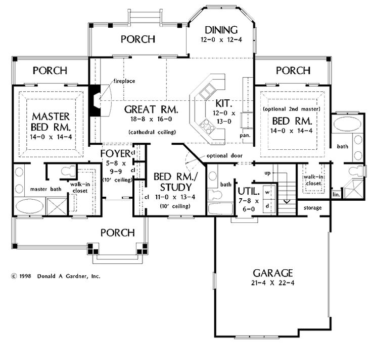 2 master suites house plans pinterest for Home plans with two master suites