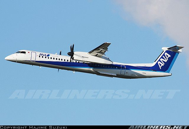 ANA Bombardier DHC-8-402 Q400 aircraft All Nippon Airways