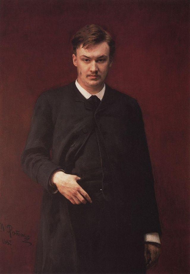 Glazunov by Ilya Repin - Alexander Glazunov (1865-1936) Russian composer of the late Russian Romantic period.. He served as director of the Saint Petersburg Conservatory between 1905 and 1928 and  following the Bolshevik Revolution. He continued heading the Conservatory until 1930, though he had left the Soviet Union in 1928 and did not return.[3] The best known student under his tenure during the early Soviet years was Dmitri Shostakovich