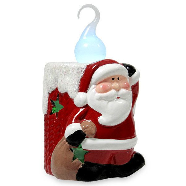 Cute Santa With LED Candle Showpiece Rs. 324 This Santa with LED candle showpiece will be a wonderful gift for your loved one on the joyous occasion.Height : 12 cm X Length : 7 cm. Shop Now : http://hallmarkcards.co.in/collections/christmas-gifts/products/christmas-gifts-ideas-online