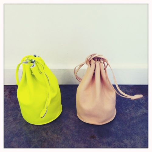 neon duffle bag nude duffle bag.  love them both: Buckets Bags, Nude, Spring Bags, Cute Couple, Drawstring Pouch, Neon, Duffle Bags, Leather Bags, Bucket Bag