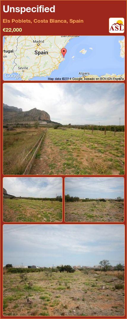 Unspecified in Els Poblets, Costa Blanca, Spain ►€22,000 #PropertyForSaleInSpain