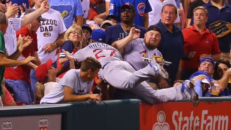 The Cubs are having fun on the field and... in the stands.