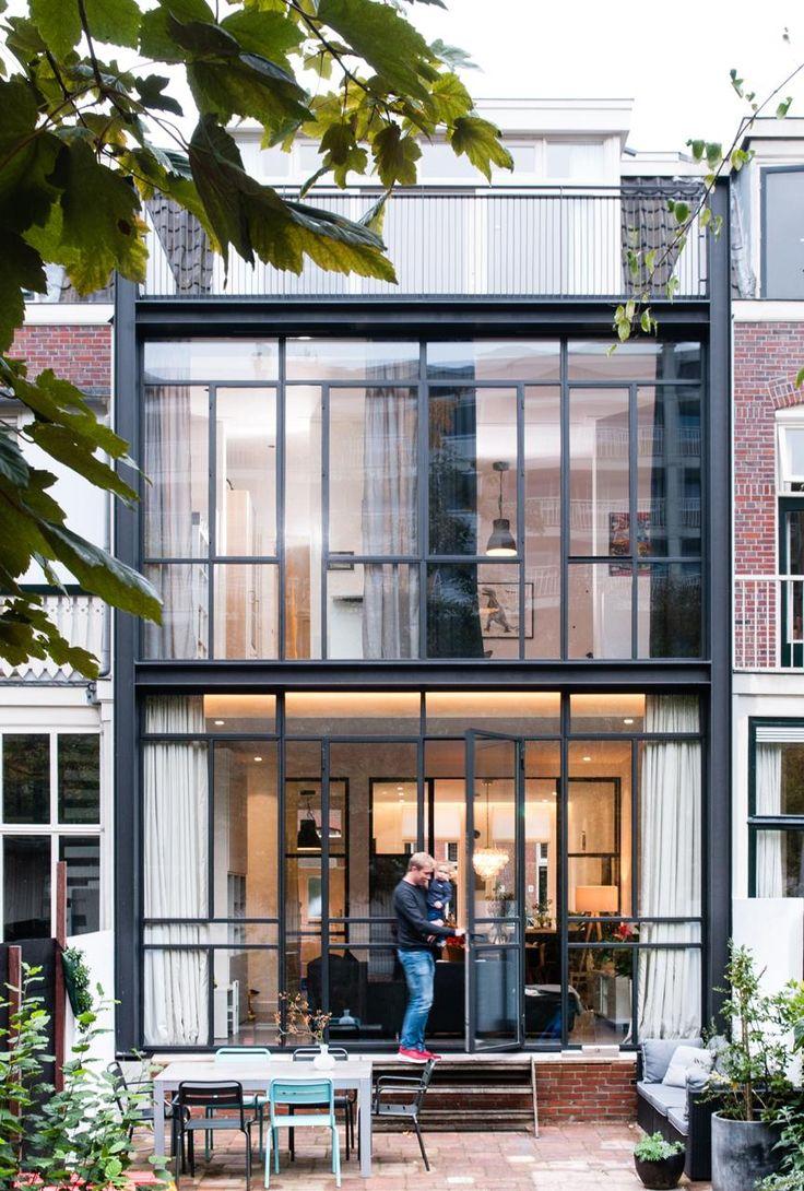 1000 idee n over oude kozijnen op pinterest oude ramen ruit decor en uitstekende vensters - Gevel eigentijds huis ...