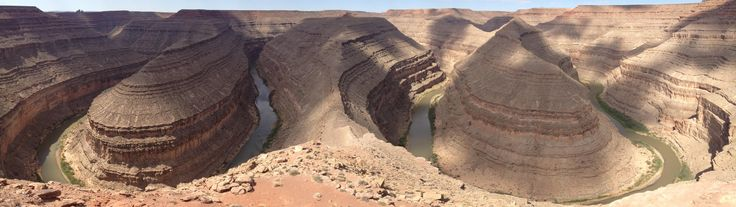Goosenecks State Park Mexican Hat UT. 2.5 hour road trip from Glen Canyon Dam (3840X1080) http://ift.tt/2xZGngq