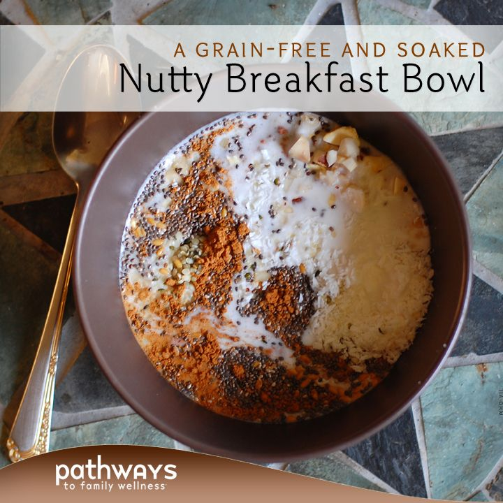 This cinnamon spiced breakfast bowl is filled with soaked nuts and seeds without any added grains or sugar. Take all of 5 minutes to put this together and have it ready for a quick and satisfying breakfast.