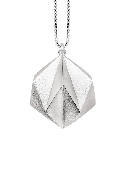Bastian Inverun silver satin/matt polished pendant