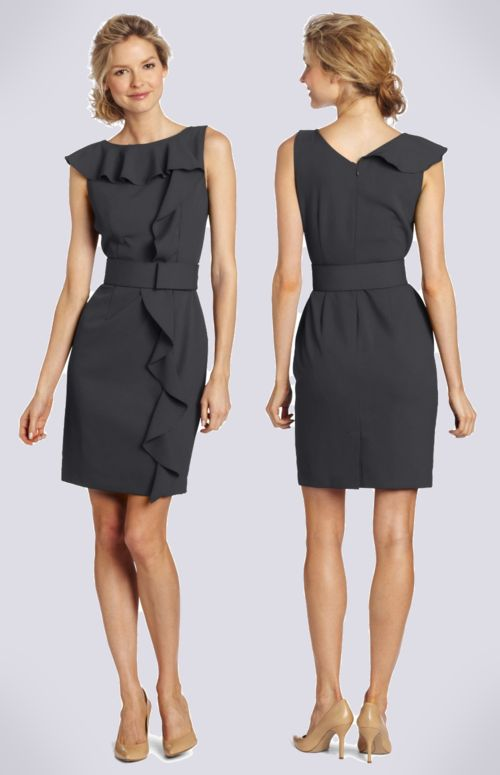 Calvin Klein  Charcoal Cocktail Dress