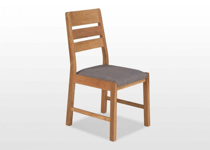 Oak Dining Chair with Fabric Seat - Milton - EZ Living Furniture