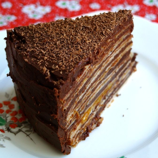 chocolate buckwheat pancake cake