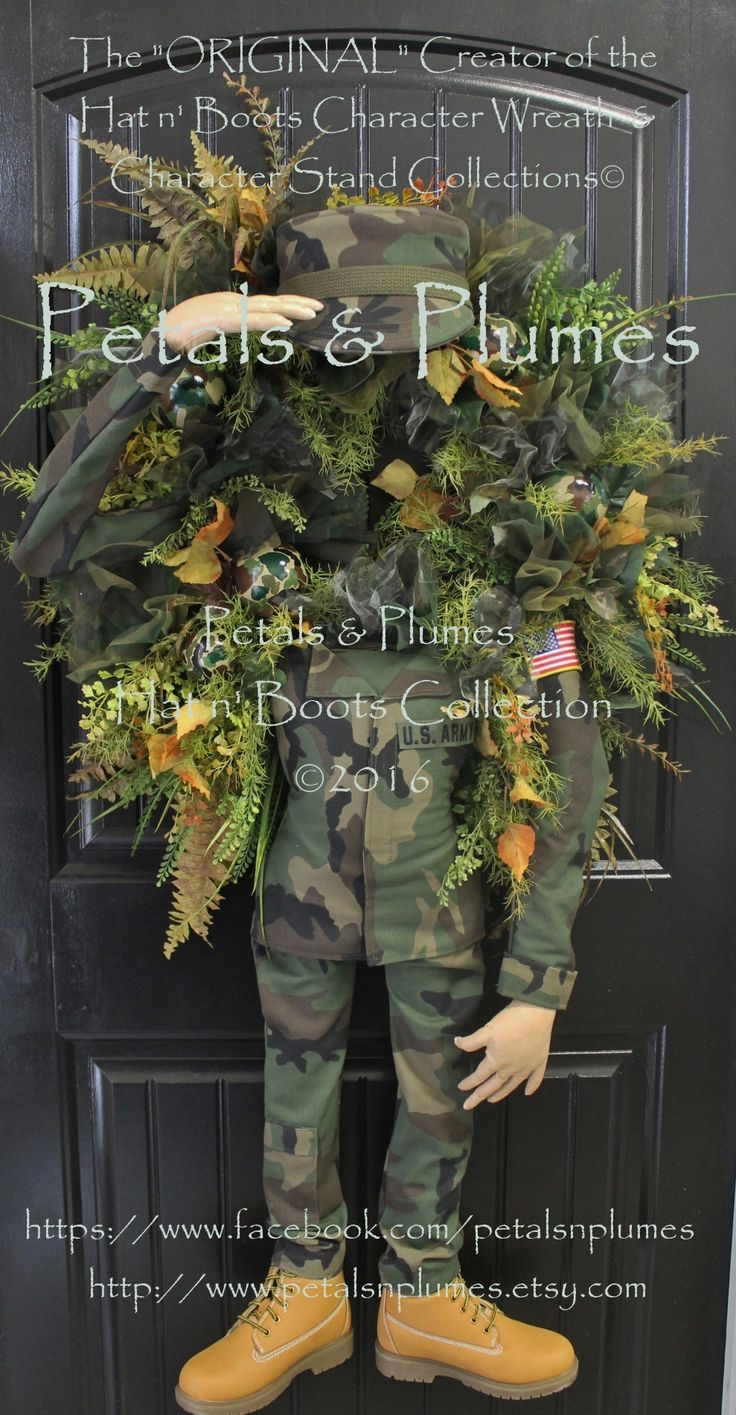"""Petals & Plumes 2016 """"SALUTE"""" Soldier Wreath- Memorial Day-Labor Day 54"""" tall https://www.facebook.com/petalsnplumes https://www.etsy.com/listing/385470304/pre-order-2017-delivery-patriotic?ref=shop_home_active_1"""