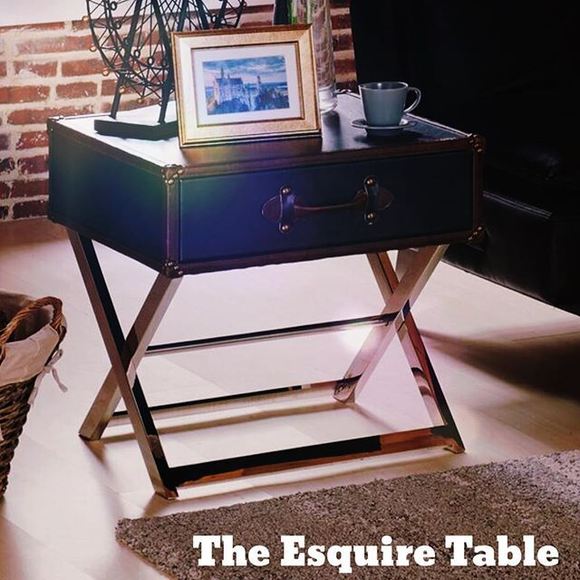How would YOU use the new !nspire Esquire table?  A) As an accent table in the living room  B) An a side table in the bedroom   http://inspireathome.com/esquire-1-drawer-accent-table-in-grey.html