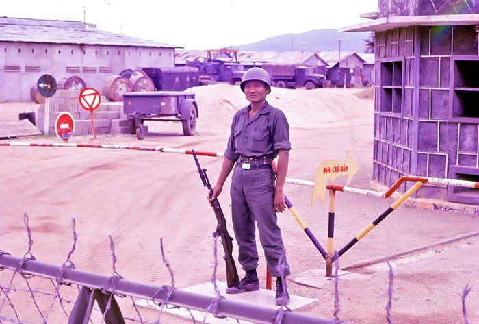 ARVN soldier on guard duty, Qui Nhon.
