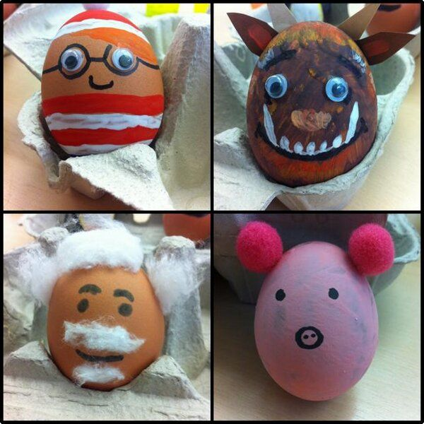 Decorate eggs as famous book characters to celebrate #WorldBookDay, and Easter in one! #teaching #lessonidea