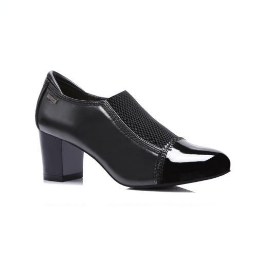 NEW LADIES WOMEN BLACK HIGH HEEL ANKLE SHOES SMART OFFICE CASUAL SHOES SIZE