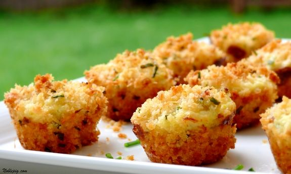 Crab cake appetizers in a mini-muffin pan--amazing!