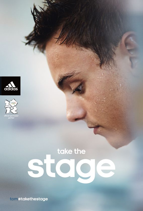 "Adidas UK Olympic campaign, based around the tagline ""Take the Stage,"" features photographic portraits of top British athletes."