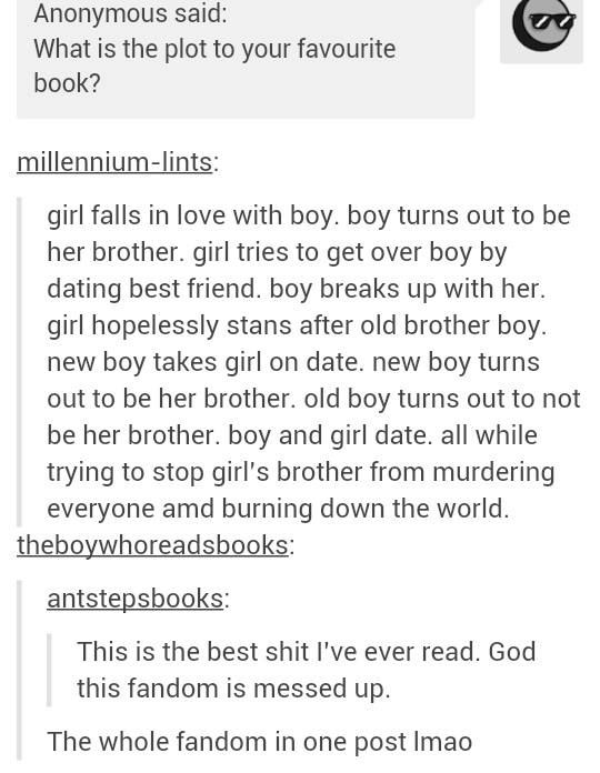 I can't believe how accurate this is but the plot seriously revolves around much more than just their relationship.