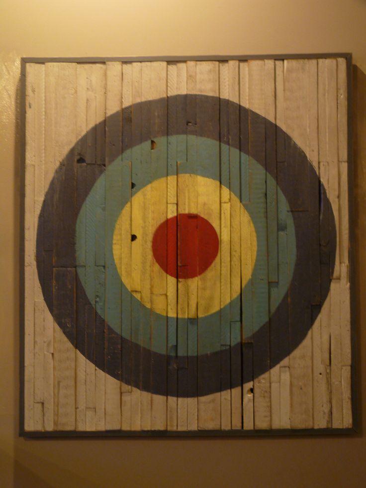 50 Quot X 55 Quot Wood Art Bullseye Funk Tional Pinterest
