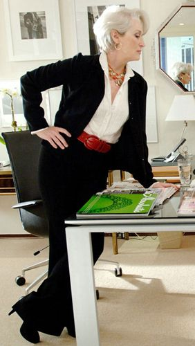 Meryl Streep's suit in The Devil Wears Prada