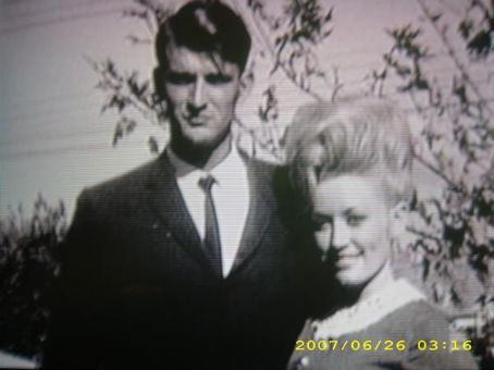 with husband, Carl Dean. hubba hubba.