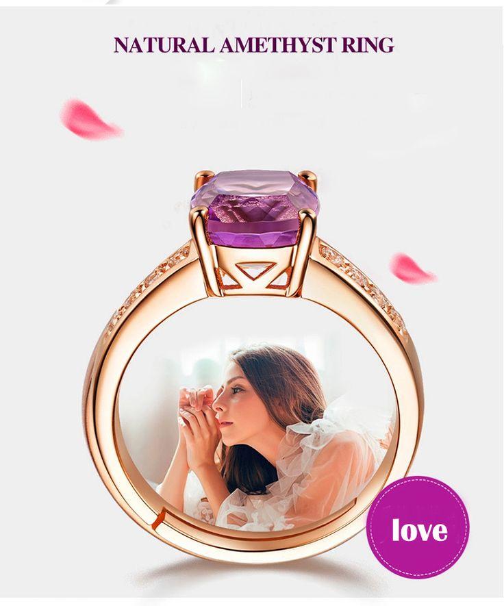 Moda Red Roxo Gem Mulheres Projeto de Abertura Ajustada de Noivado Anéis de Casamento Cor de Rosa de Ouro Anel de cristal Jóias em Anéis de Jóias & Acessórios no AliExpress.com   Alibaba Group