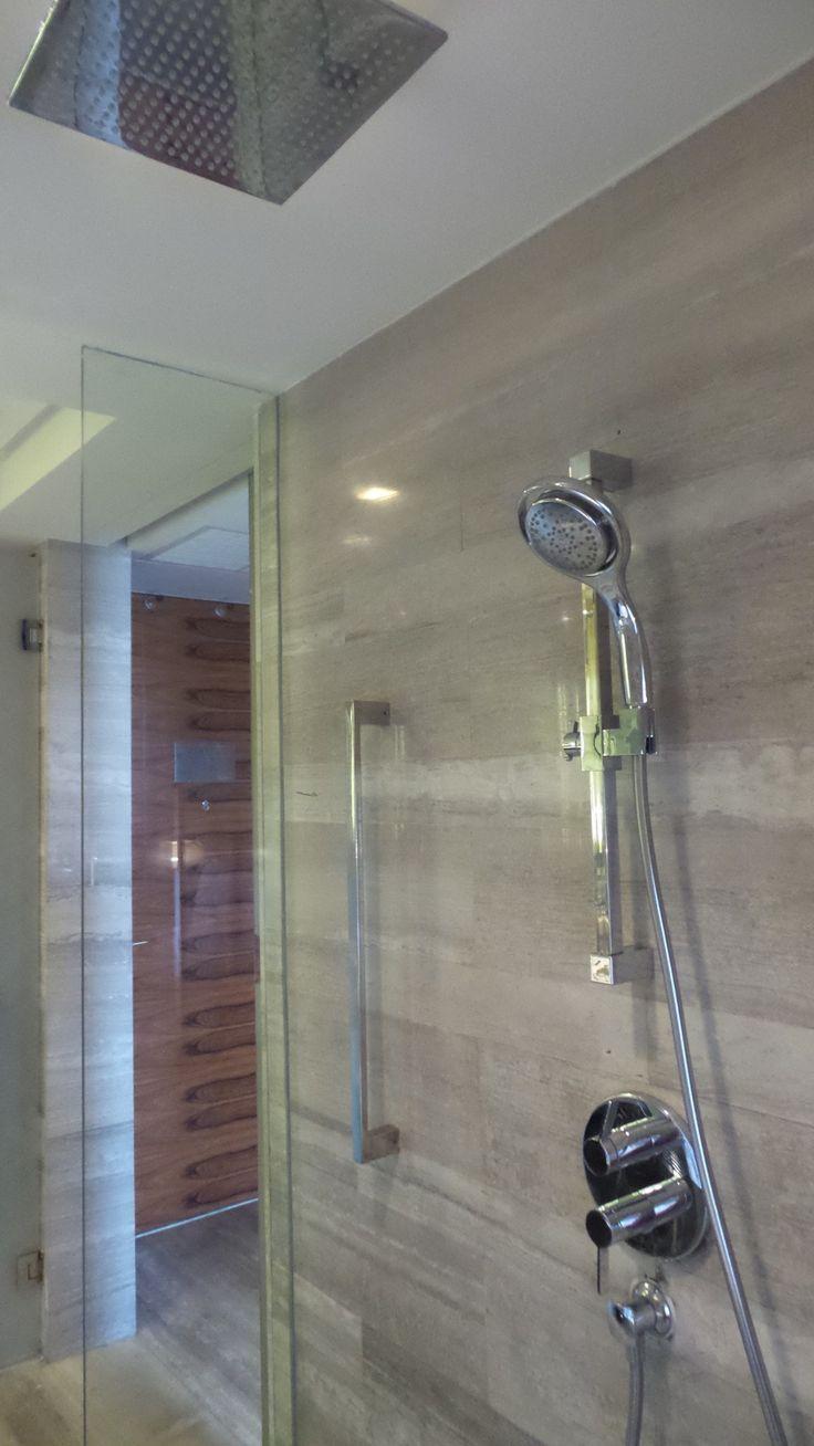 Bathroom Shower at the Hilton Sukhumvit Bangkok Hotel