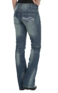 Cowgirl Tuff Women's Medium Wash Dont Fence Me In Boot Cut Jeans   Cavender's
