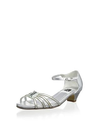 55% OFF Aline Kid's Chain Sandal with Jewel (Silver)