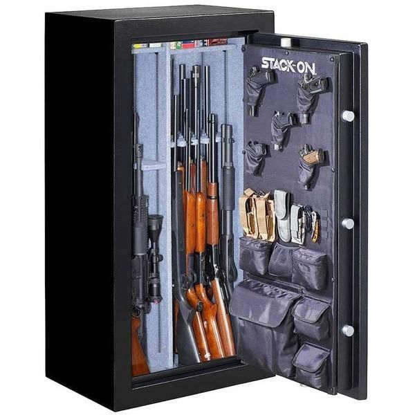 Stack On Gun Safes, Hand and Riffle Safes. Stack-On is well-known among Gun Owners for their Quality and Affordable Safes -  Stack-On Biometric Gun Safe   Stack-On Armorguard gun safe - Stack-On Total Defense gun safe - Stack-On Tactical Security gun safe - Stack-On Executive gun safe -  Stack-On Elite gun safe - Stack-On Woodland gun safe - Stack-On Hunter Green gun safe
