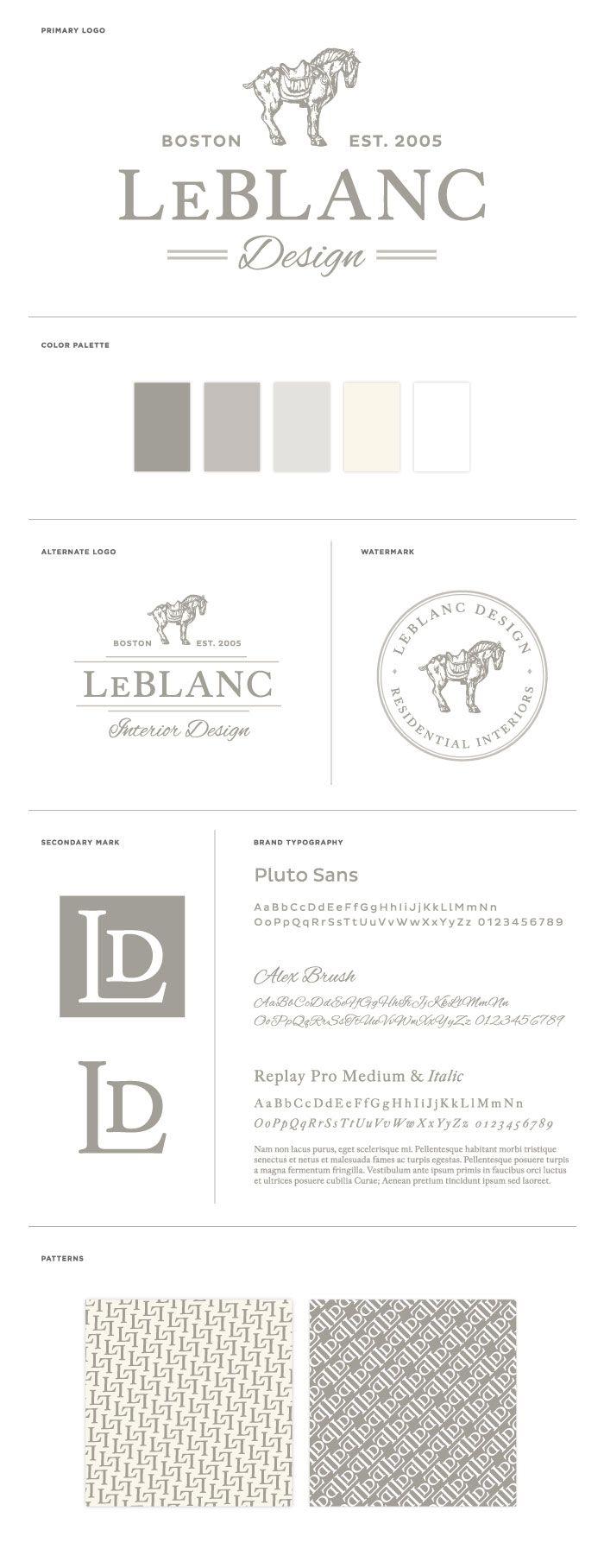 LeBlanc Interior Design Branding and Identity Design by BRAIZEN