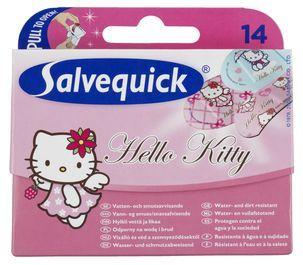 Salvequick- laastari pakkaukset lapsille ja aikuisille.