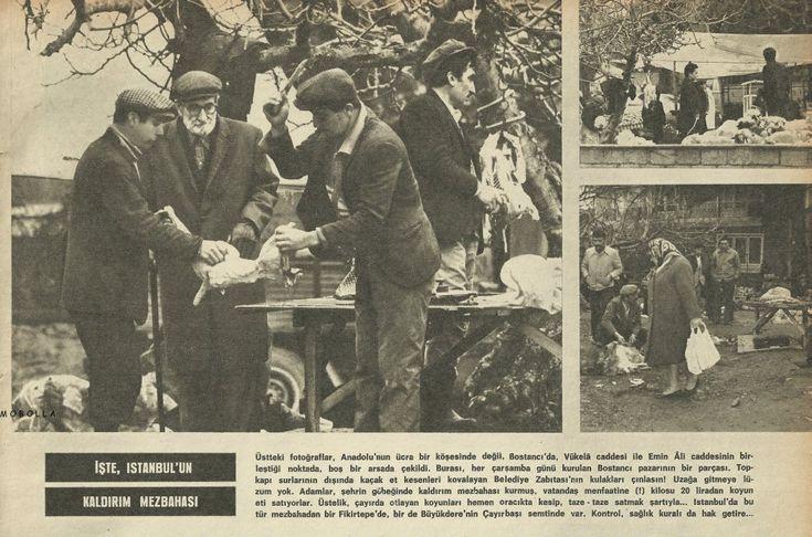 Bostancı'da kaldırım mezbahanesi - 1960'lar